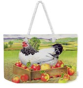Hen In A Box Of Apples Weekender Tote Bag by EB Watts