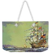 Henri Grace A Dieu, Or The Great Harry Weekender Tote Bag