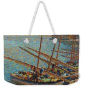 Henri Martin 1860 - 1943 Boats To Collioure Weekender Tote Bag
