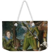 Henry Frederick 15941612 Prince Of Wales With Sir John Harington 15921614 In The Hunting Field Weekender Tote Bag