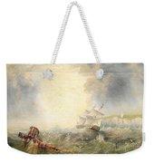 Henry Redmore Running Up The Coast In Heavy Seas, 1856 Weekender Tote Bag