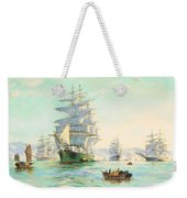 Tranquil Morning - Foochow, The Famous Clipper Thermopylae At Anchor Weekender Tote Bag