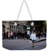 Her With The Cape Weekender Tote Bag