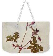 Herb Robert - Wild Geranium  #flower Weekender Tote Bag