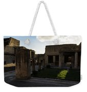 Herculaneum Ruins - Mosaic Tile Streets And Sun Splashes Weekender Tote Bag