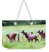 Herd Of Elk Leaping - Western Oregon Weekender Tote Bag