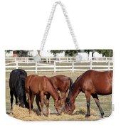 Herd Of Horses Ranch Scene Weekender Tote Bag