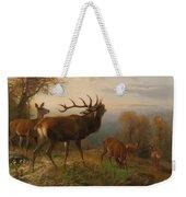 Herd Of Red Deer Weekender Tote Bag
