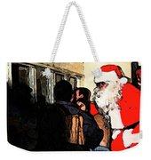 Here Come Santa Weekender Tote Bag