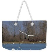 Here Come The Swans Weekender Tote Bag
