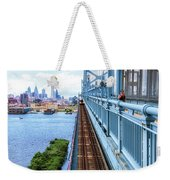 Here Comes The Train Weekender Tote Bag