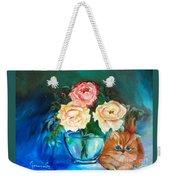 Here Kitty Weekender Tote Bag