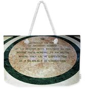 Here Rested The Remains Of President Kennedy Weekender Tote Bag