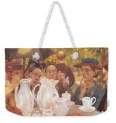 Here The Family Can Make Coffee Weekender Tote Bag