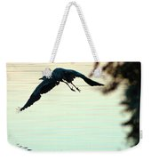 Heron At Dusk Weekender Tote Bag