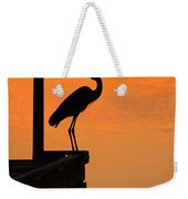 Heron At Sunset Weekender Tote Bag