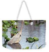 Heron Fishing In The Everglades Weekender Tote Bag
