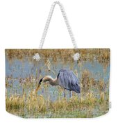 Heron Hunting In Shallows Weekender Tote Bag