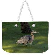 Heron In Dark Pond Weekender Tote Bag