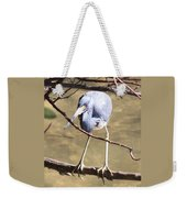Heron On Branch Weekender Tote Bag