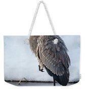 Heron On Ice Weekender Tote Bag