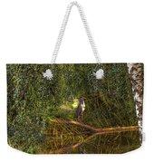 Heron On Path #g7 Weekender Tote Bag