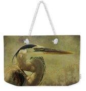 Heron On Texture Weekender Tote Bag