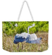 Heron On The Rise Weekender Tote Bag