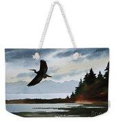 Heron Silhouette Weekender Tote Bag