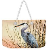 Heron Sunset Weekender Tote Bag by James Williamson