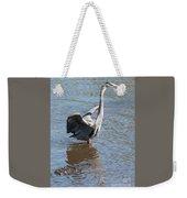 Heron With Gator Weekender Tote Bag