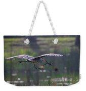 Heron With Nesting Material Weekender Tote Bag