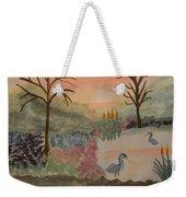 Heron's Hangout At Sunrise Weekender Tote Bag