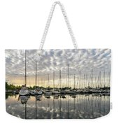 Herringbone Sky Patterns With Yachts And Boats  Weekender Tote Bag