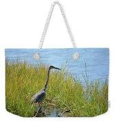 Herron In The Grasses Weekender Tote Bag