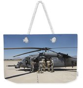 Hh-60g Pave Hawk With Pararescuemen Weekender Tote Bag