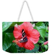 Hibiscus And Butterfly Diners Weekender Tote Bag