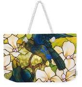 Hibiscus And Parrots Weekender Tote Bag