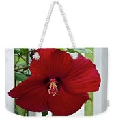 Hibiscus By Picket Fence Weekender Tote Bag