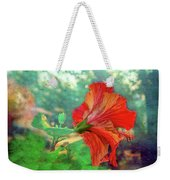 Hibiscus Flame Weekender Tote Bag