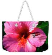 Hibiscus Fly-by Weekender Tote Bag