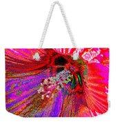 Hibiscus Macro Abstract Weekender Tote Bag