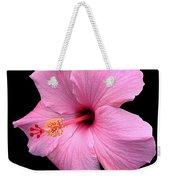 Hibiscus On Black Weekender Tote Bag