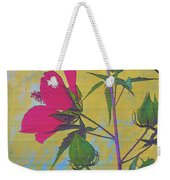 Hibiscus On Brick Weekender Tote Bag