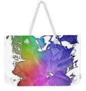 Hibiscus S D Z 2 Cool Rainbow 3 Dimensional Weekender Tote Bag
