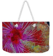 Hibiscus Stained Glass Weekender Tote Bag