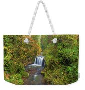 Hidden Falls In Autumn Weekender Tote Bag