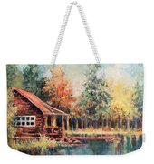 Hide Out Cabin Weekender Tote Bag