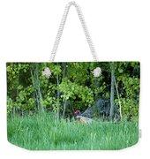 Hiding In The Grass. Pheasant Weekender Tote Bag