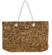Hieroglyph Weekender Tote Bag
